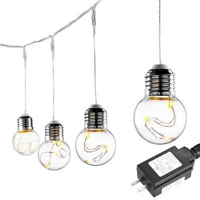 Le G45 Led Globe String Lights Bulbs 20ft Water Resistant Indoor Outdoor
