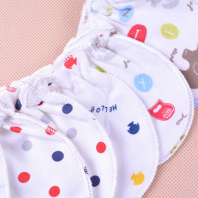 3 Pair Unisex Newborn Baby Infant Cotton Handguard Anti Scratch Mittens Gloves