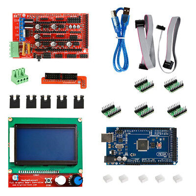 1 set For 3D Printer RAMPS 1.4 MEGA 2560 A4988 12864 LCD Card Controller fo L5D5