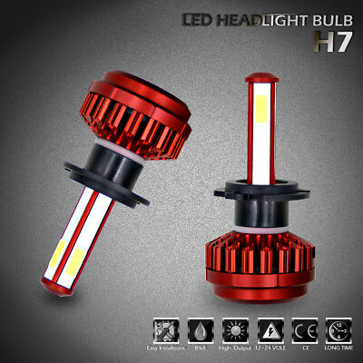 H7 LED Headlight 800W 80000LM Lamp Bulbs 6000K 4-Side Bright For Hyundai Sonata