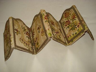 antique french victorian folding silk brocade picture frames - shabby