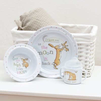 Rainbow Designs Guess How Much I Love You Baby 3 piece Mealtime Breakfast Set