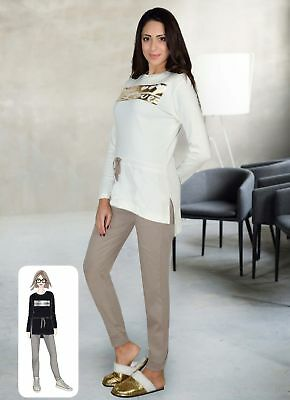 Pajamas Women's Winter In Hot Cotton Style Suit Milk And Honey Pd0746