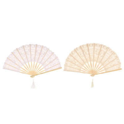 Classic Chinese Style Foldable Lace Fan Wedding Party Photo Prop Bridesmaid Gift