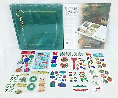 Creative Memories 12 X12 Green Christmas Album w/Pages & NIP 16 Page Protectors