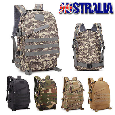 35L Hiking Camping Bag Army Military Tactical Trekking Rucksacks Backpacks Camo