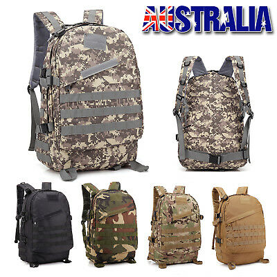 40L Outdoor Hiking Camping Bag Army Military Tactical Rucksack Backpack Trekking
