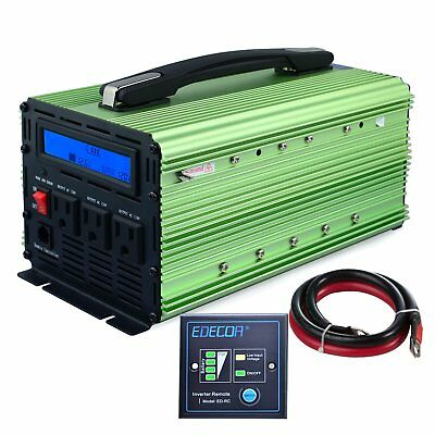 EDECOA 2000W Power Inverter Modified Sine Wave DC 12V to 110V AC with LCD
