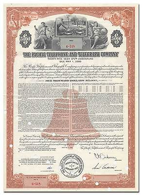 Pacific Telephone and Telegraph Company Bond Certfiicate