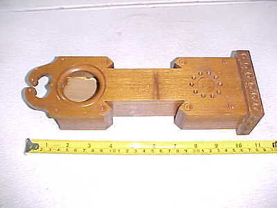 """Vintage Old Miniature 11"""" Wood Grandfather Doll Size Clock or Pocket Watch Case"""