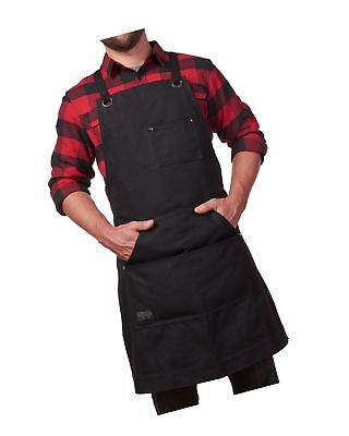 Hudson Durable Goods - Heavy Duty Waxed Canvas Work Apron with Tool Pockets (...