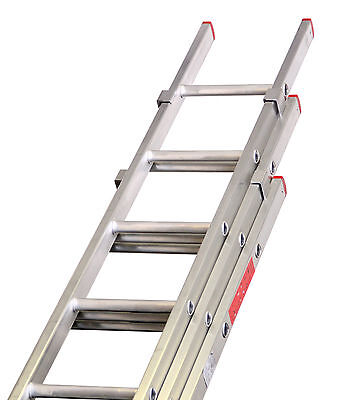 Lyte DIY Aluminium Double & Triple Section Extension Ladders UK Manufactured