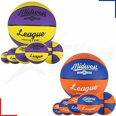Midwest League Basketballs Blue/Orange Yellow/Purple Size 5, 6 or 7