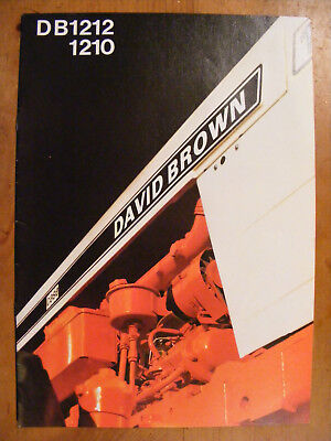 David Brown DB1212 DB 1210 Tractor UK Sales Brochure