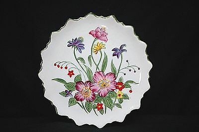 Old Vintage Andrea by Sadek 9396 Elegant Pink Purple Floral Plate Wall Art Japan