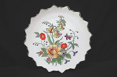 Old Vintage Andrea Sadek 9396 Elegant Yellow Orange Floral Plate Wall Art Japan