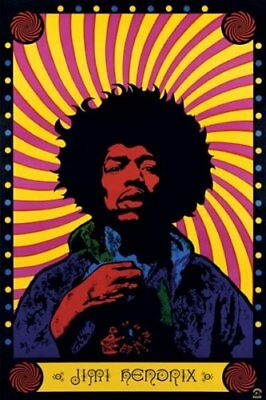JIMI HENDRIX - PSYCHEDELIC POSTER 24x36 - MUSIC 48349