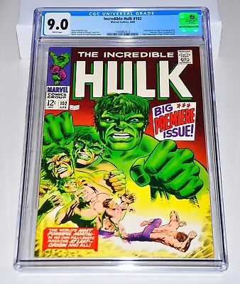 Incredible Hulk 102 CGC 9.0 White Pages