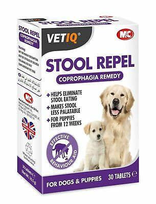 Mark & Chappell Dogs Puppies Stool Repel-Um Coprophagia Stop Eating Poo Tablets