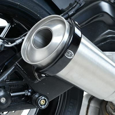 R&G Toro Oval / Oval with Carbon Cap Motorcycle Exhaust Protector - Black