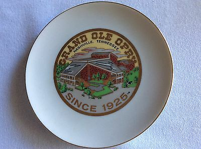 Vintage Collectible Grand Ole Opry Ceramic Decorative Wall Plate Decor 6.5""