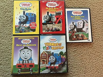 Thomas And Friends 5 Dvd Lot Best Of Gordon, Toy Workshop, Sing-Along