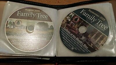 Family tree magazine set of cds August 2004 to September 2006 genealogy