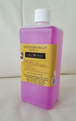 Goldelektrolyt - Hartvergolden - 50 ml - 8 Gramm Gold /L. Goldsolution - TOP!