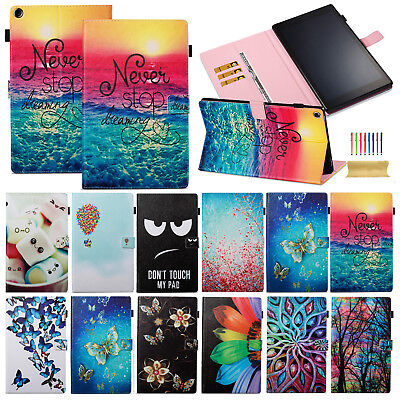 For Amazon Kindle Fire HD 10 7th 2017 Leather Flip Smart Case Stand Wallet Cover