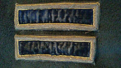 Original Set of US Civil War Shoulder Straps or Boards, 2nd Lieutenant
