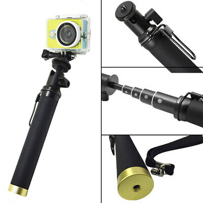 Bluetooth Remote Flexible Selfie Monopod Stick with Lanyard For Xiaomi Yi Camera