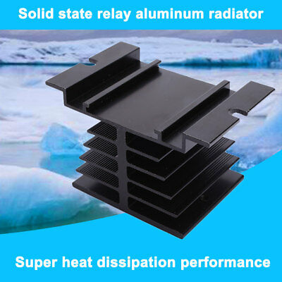 Aluminum Heat Sink 80 x 50 x 50mm For Solid State Relay SSR Portector Black