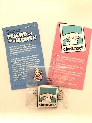 Sanrio Friend of the Month Pin & Card Cinnamoroll Rare Kawaii