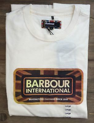BRAND NEW-Barbour International Pride Tee Neutral T-Shirt -S-MSRP $49