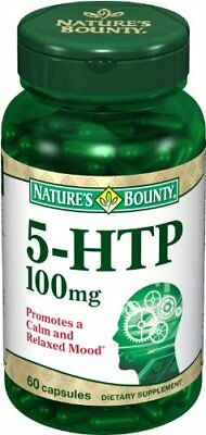 Nature's Bounty 5-HTP 100 mg Capsules Double Strength 60 Each