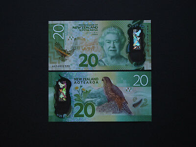 New Zealand Banknotes Brilliant $20 - Magnificent 2016 notes in superb  MINT UNC