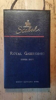 SCABAL London Stoffe Stoffmuster Mappe ROYAL GABERDINES Super 100´s Merino Wool