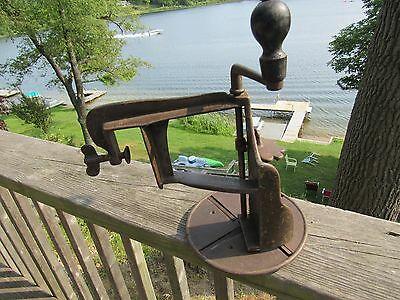 ORIGINAL 1800's FOUR BLADE CAST IRON VEGETABLE SLICER IN EXCELLENT CONDITION