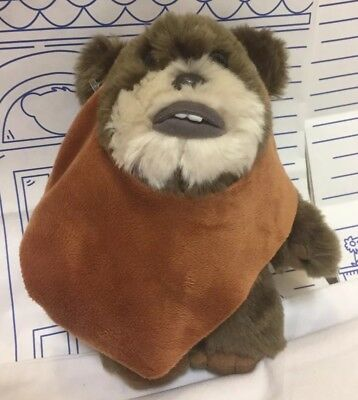 "Disney World Parks Star Wars Movie Ewok Wicket Warwick Plush 9"" Doll Toy Brown"
