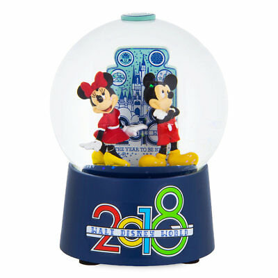 Disney Parks 2018 Walt Disney World Mickey & Minnie Snowglobe New with Tags