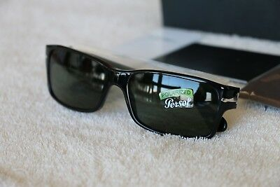 Persol 0PO2803S Sunglasses Authentic Italy Crystal Lenses New Black