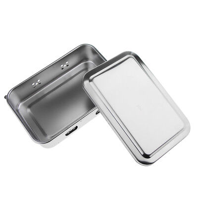 Medical Instrument Stainless Steel Disinfectant Rectangle Dish Tray With Lid