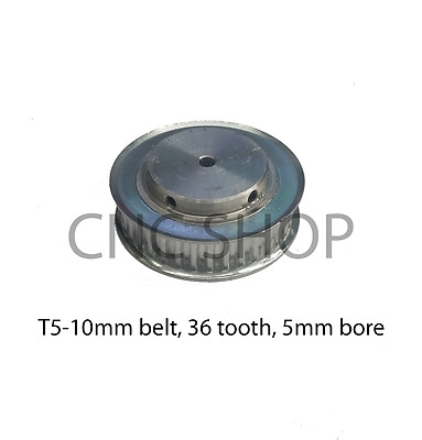 T5 10mm WIDE BELT 36T 5mm BORE TIMING PULLEY CNC MACHINE 3D PRINTER MOTOR DIY