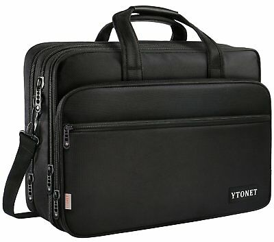 17 inch Laptop Bag, Travel Briefcase with Organizer, Expandable Large Hybrid