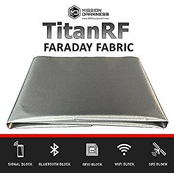 TitanRF Faraday Fabric. EMI Shielding, RFID Shielding, Cell Phone Block, WiFi