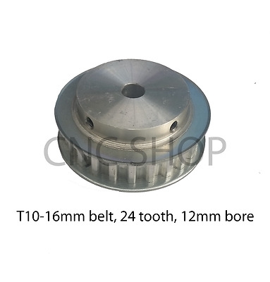T10 16mm WIDE BELT 24T 12mm BORE TIMING PULLEY CNC MACHINE 3D PRINTER MOTOR DIY