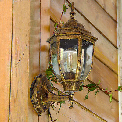 Ip44 Outdoor Light Security Home Outside Wall Lamp Glass Lantern Garden Sconce