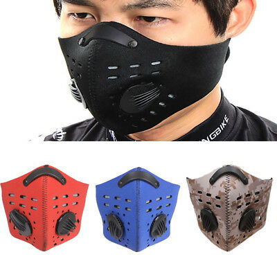 AU Activated Carbon Filter Anti-Dust Mask Reusable Mesh Half Face Cover Cyclist