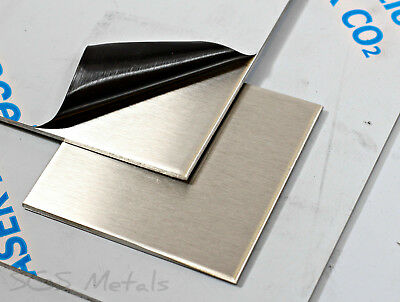 3.0 MM Brushed Stainless Steel Sheet Grade 304 - 31 Popular Pre Cut Sizes
