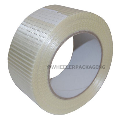 18 Rolls Crossweave glassfibre reinforced strong packing tape 50mm x 50m